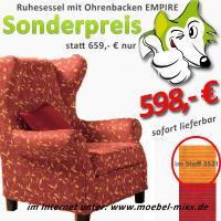 traditioneller hochlehnsessel ohrenbackensessel empire. Black Bedroom Furniture Sets. Home Design Ideas