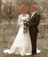 traumhaftes Brautkleid Hochzeitskleid weiß 34 36 S