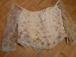 Foto 3 traumhaftes Brautkleid/ Hochzeitskleid champagner, cr�me Gr. 42/ 44