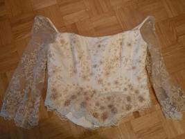 Foto 5 traumhaftes Brautkleid/ Hochzeitskleid champagner, cr�me Gr. 42/ 44