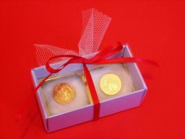 vergoldetes Glückscent-Paar