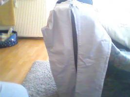 verkaufe !! eine schicke silberne satin hose von*GirL ViVI*gr. 40 kaum getragen 1 kleiner fleck am fuß hinten :S sieht mann aber kaum verkaufe sie für 5€