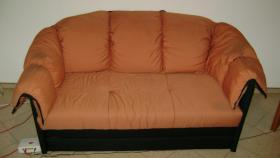 verschenke orange-schwarzes IKEA Schlafsofa