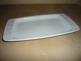weiße Servierplatte