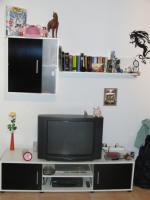 **weiße Wohnwand / Wohnzimmerschrank**