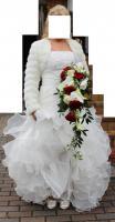 wunderschönes Brautkleid mit Jäckchen, Schuhen, ...