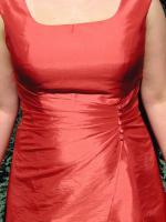 Foto 4 wunderschönes Brautkleid rot bodenlang mit Trägern A-Linie wie neu!!!
