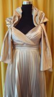 wunderschönes Luxus-Abendkleid gold, Gr. 38, -NEU-