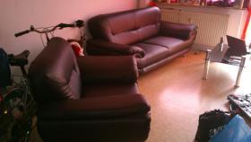 zweier couch mit sessel