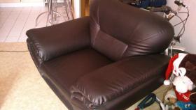 Foto 2 zweier couch mit sessel