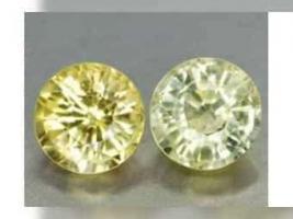 0,81 ct , schöne gelbe Golden Yellow Saphire , RD Fac. ( 2 Stück