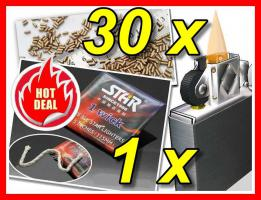 1 Docht Wick + 30 Gold Flint Premium Feuersteine Feuerzeuge Gas Benzin Lighter 1a-TOP
