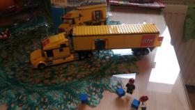 Foto 4 1 Modell Sattelschlepper POST mit Zubehör, lego kompartibel