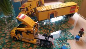 Foto 5 1 Modell Sattelschlepper POST mit Zubehör, lego kompartibel