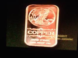 1 Unze-Kupferbarren-999