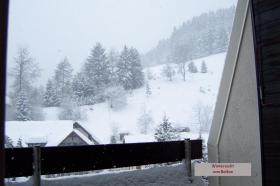 Wintersicht vom Balkon