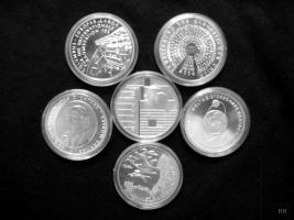 10 Euro Gedenkmünzen aus Silber Jahressatz 2004