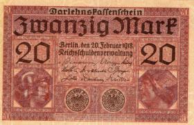 10 Geldscheine: Zwanzig Mark, Berlin den 20. Februar 1923, Darlehenskassenschein
