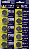 10 Lithium Knopfzellen 3 V CR 2032 im 5er Blister ideal für LED Kerzen