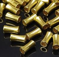 10 Metallperlen/Spacer(4), ca. 10,5 x 5 mm, Nickelfrei, Goldfarben