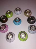 10 Stück - Murano Bead Glasperlen Beads Silber925 Lampwork Element Charms