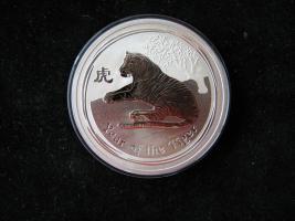 10 Unzen Fein Silber Australien Jahr des Tigers 2010 Lunar 2