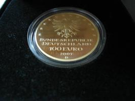 100 Euro Goldmünze Hansestadt Lübeck 2007 D aus 999,9 Gold