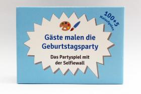 100 Karten mit Malaufgaben, Geburtstagsparty, Runder Geburtstag, Party, Spiel