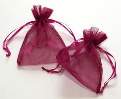 Foto 5 100 Organzasäckchen 10 x 8 cm braun, creme, rosa, oder burgund