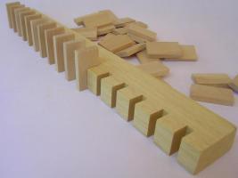 Foto 3 1000 Stk Dominosteine aus naturbelassenem Holz NEU