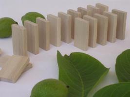 1000 Stk Dominosteine aus naturbelassenen Holz