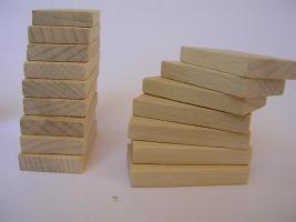 Foto 2 1000 Stk Dominosteine aus naturbelassenen Holz Neu