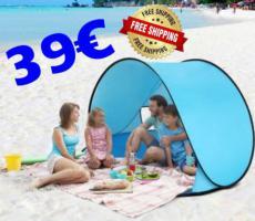✔️ Strand Sonnen Zelt PopUp nur 39euro frei Haus