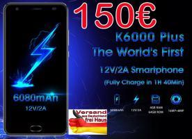 ✘ OUKITEL K6000 Plus 8Core 4G Smartphone 4/64GB 150€ frei Haus