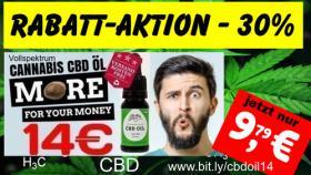 ❌ Cannabis CBD ÖL 10ml AKTION 30% Rabatt jetzt nur 9,79€ ‼️