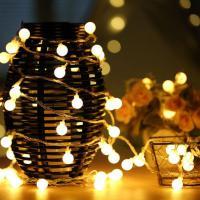 ... Foto 2 10M 100er LED Lichterkette, Kugel Lichterkette Warmweiß  Innen/Aussen Sternen Lichterkette DC ...