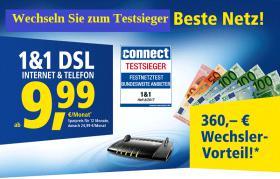 1&1 AKTION Internet und Telefon Jetzt ins beste Netz wechseln und 360, – € Wechsler-Vorteil sichern