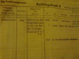 Foto 2 11 alte Auftragsbuchseiten (Original) Hugo Junkers