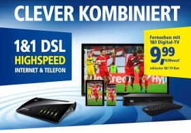 Foto 2 1&1Digital‑TV.  ALLES AUS EINER HAND: Internet, Telefon und Fernsehen! Nur 9,99 €/Mon.