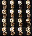 14mm Edelstahlring PVD Rosé Gold mit Swarovski Elements