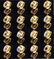 14mm PVD Gold Edelstahlring mit Swarovski Elements