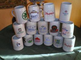 15 Stück Bierkrüge für Sammler