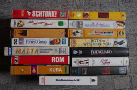 15 VHS-Kassetten, Spielfilme, Reisen, Modellbahn