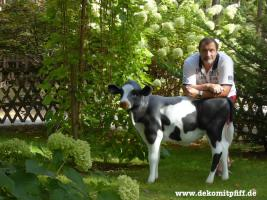 Foto 2 1599,00 €  Holstein - Deko Kuh mit passenden Deko Kalb ...