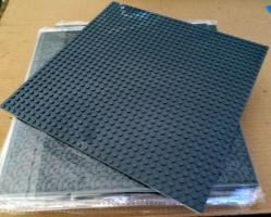 17 graue dünne Grundplatten 32 x 32 Noppen lego kompartibel