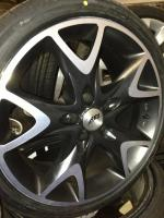 18 ''AEZ Y-Speichen 5x112 ET.35 Audi Mercedes C-Klasse (138)  Farbe: Grau Schwarz Durchmesser: 18 Zoll Legen Sie Größe: 5x112 Offset: 35 Band Marke: Pace 10 Reifengröße: 225 / 40R18  Solange die Anzeige immer noch leuchtet, sind die Felgen noch zum Verkau