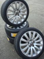 Foto 3 18 ''Original Opel Insignia 5x120  angeboten  4x 245/40 R18 Marsel Sommerreifen auf 18 Zoll original Opel insignialichtmetalen Räder (8J X 18). Reifen und Felgen sind in gutem Zustand (siehe Fotos)  Reifen Profil: 4x 8 mm New ALLS  Legen Sie Größe: 5X120