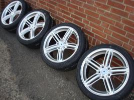 Foto 2 18 ''RS6 Audi Mercedes VW Golf / Jetta / Passat 225/40/18 (140)  Eine neue Reihe von Rädern Enthält Links  RS6  Spezifikationen: Insert: 5x112 Offset: 45 Breite: 8,0 J Größe: 18 Zoll Farbe: Silber Reifen: 225/40/18 (USA)  Alles ist neu !!! Für € 899, -  A