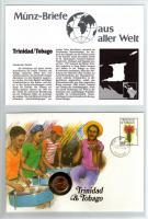 1987 MÜNZBRIEF TRINIDAD&TOBAGO MÜNZE-PWZ-DOKUBLATT