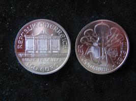 1,5 Euro Österreich Wiener Philharmoniker 1 Unze Fein Silber